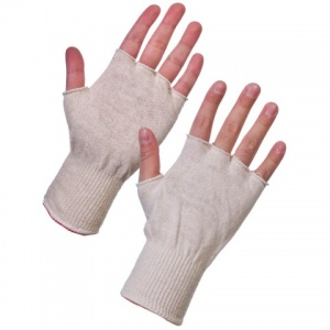 Supertouch Fingerless Polycotton Stockinet Glove Liners 252W4