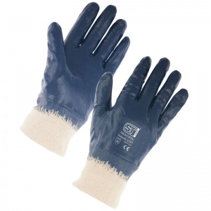 Supertouch Nitrile Lightweight Full Dip Knit Wrist Gloves 2254/2251