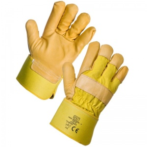 Supertouch Yellow Hide Rigger Gloves 21643