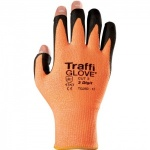TraffiGlove TG350 3 Digit Polyurethane Cut Level 3 Handling Gloves