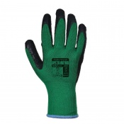 Portwest Latex Green and Black Grip Gloves A100E8