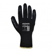 Portwest Latex Black Grip Gloves A100K8