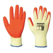 Portwest Latex Orange Grip Gloves A100OR