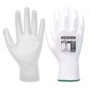 Portwest A120 White PU Palm Gloves (Case of 480 Pairs)