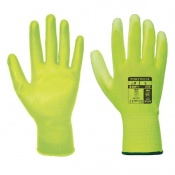 Portwest A120 Yellow PU Palm Gloves (Case of 480 Pairs)