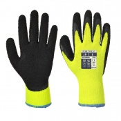 Portwest Thermal Soft Grip Yellow and Black Gloves A143Y8