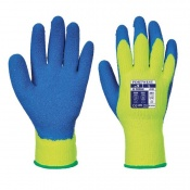 Portwest Thermal Yellow and Blue Grip Gloves A145Y4