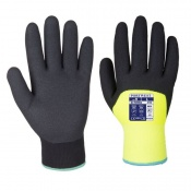 Portwest A146 Nitrile Dipped Winter Yellow Gloves