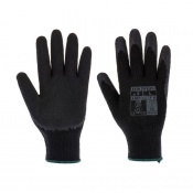 Portwest Black Latex Grip Gloves A150K8