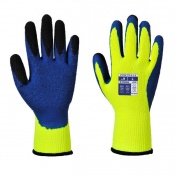 Portwest A185 Thermal Latex Yellow and Blue Gloves