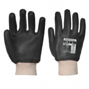 Portwest Oil-Resistant PVC Black Gloves A400BK