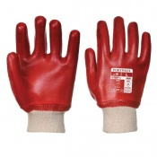 Portwest A400 Oil-Resistant PVC Red Gloves (Case of 144 Pairs)