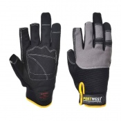 Portwest Leather Powertool Pro Black Gloves A740BK