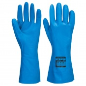 Portwest A814 Blue Chemical-Resistant Food Handling Gloves