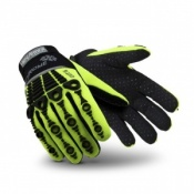 HexArmor Chrome Series 4026 Hi Vis  Mechanics Cut Resistant Gloves