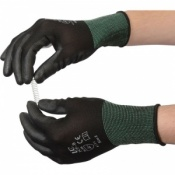 Black PU Coated Polyester Glove PCP-B