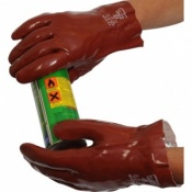 Standard Chemical Resistant Red 11'' PVC Gauntlet R227
