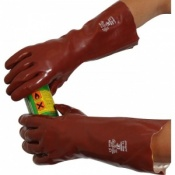 Standard Chemical Resistant Red 16'' PVC Gauntlet R240