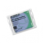 Shield GD51 Blue Smooth Polythene Disposable Gloves (Pack of 10 Bags)