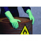 Shield2 GI/F11 Green Heavy-Duty Industrial Nitrile Gloves