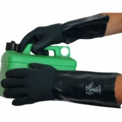 Green Double Dipped 16'' PVC Gauntlets V340