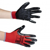 Portwest A310 Flexo Grip Nitrile Red and Black Gloves