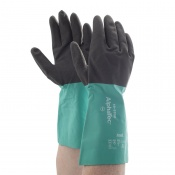Ansell AlphaTec 58-535B Chemical-Resistant Gauntlet Gloves