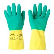 Ansell AlphaTec 87-900 Bi-Colour Chemical-Resistant Gauntlet Gloves