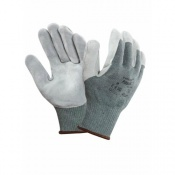 Ansell Vantage 70-765 Leather Palm Grip Gloves