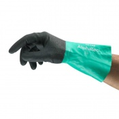 Ansell AlphaTec 58-128 Chemical-Resistant Gauntlet Gloves