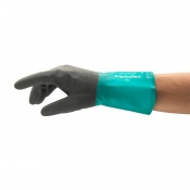 Ansell AlphaTec 58-530W Chemical-Resistant Gauntlet Gloves