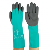 Ansell AlphaTec 58-735 Nitrile Chemical-Resistant Gauntlet Gloves