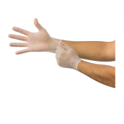 Ansell Dura-Touch 34-755 Disposable Ambidextrous Vinyl Gloves