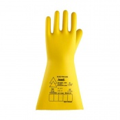 Ansell E017B Electrician Class 1 Black Insulating Rubber Gloves