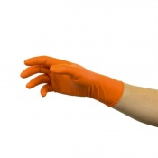 Ansell Microflex 93-856 Disposable Powder-Free Orange Nitrile Gloves