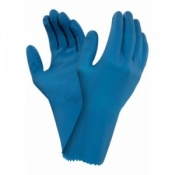 Ansell AlphaTec 87-305 Chemical-Resistant Latex Gauntlet Gloves