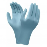 Ansell VersaTouch 92-481 Long-Cuffed Light Blue Disposable Nitrile Gloves