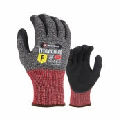 Blackrock BRG156 Titanium-NS Sandy Nitrile Coated Cut Level F Gloves