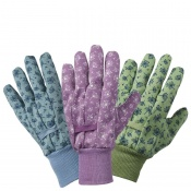 Briers Allium Cotton Grip Gardening Gloves (Pack of 3)  B8681