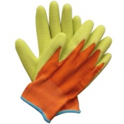 Briers Kids Junior Digger Green and Orange Gardening Gloves B5314