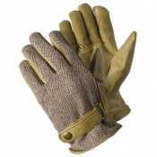 Briers Beige Leather Herringbone Gardening Gloves B7656