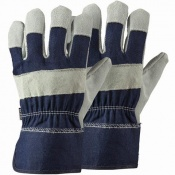Briers Navy Rigger Gardening Gloves Twin Pack B4300