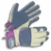 Clip Glove Ladies Leather-Palm Soft and Supple Gardening Gloves