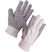 Supertouch Cotton Drill Polka Dot Gloves - 8oz 2620