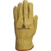 Delta Plus FBJA49 Thick Cowhide Leather Work Gloves