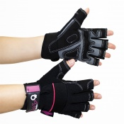Dirty Rigger Leather Ladies Fingerless Gloves