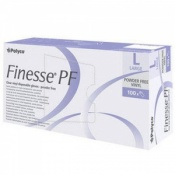 Polyco Finesse Powder Free Clear Vinyl Disposable Gloves MPF25 (Case of 1000 Gloves)