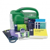 First Aid Kit in Green Torch Box