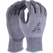 Kutlass Level 3 Cut Resistant Grey Gloves PU300