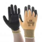 Kutlass Level 3 Cut Resistant Orange Gloves PU300-OR
